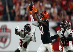 Mike Thomas secures football after Bucs' wacky, bobbled INT