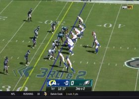 Goff rips it to Kupp in traffic for 24-yard catch and run