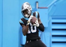 Curtis Samuel makes toe-tapping grab for P.J. Walker's first NFL TD pass