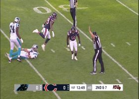 Roquan Smith flies through Panthers' offensive line for sack