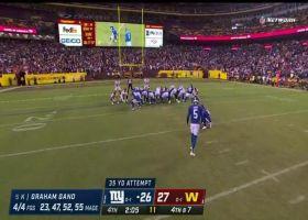 Graham Gano's 35-yard FG gives Giants late lead