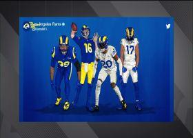 Kurt Warner reacts to Rams' new uniforms