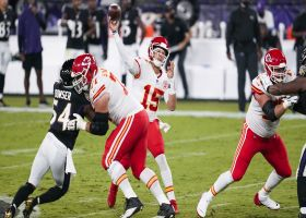 Mahomes fires laser to Tyreek Hill who makes Peters miss for 32 yards
