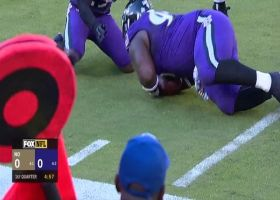Ravens recover fumble after Kamara can't handle pitch