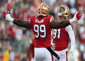 49ers collapse pocket on Rodgers to force third-down sack