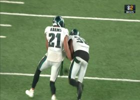 Jacquet rips ball from TE for CLUTCH strip, scoop-and-score TD