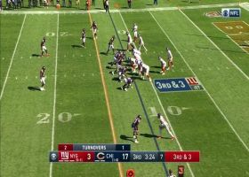 Daniel Jones tosses pass up to Dion Lewis mid-tackle to move chains