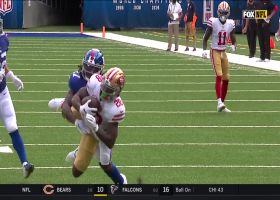 Jerick McKinnon lays out for 26-yard diving catch in red zone