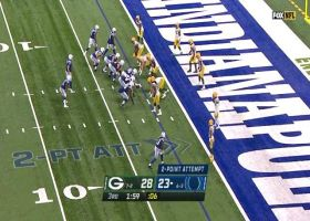 Nyheim Hines speeds off the edge to convert two-point conversion