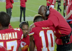 Bieniemy shares sideline advice he gave Tyreek Hill before '2-3 Jet Chip Wasp'