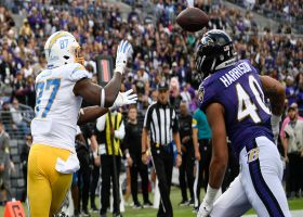 Herbert pinpoints Jared Cook in corner of end zone for Bolts' first TD of day