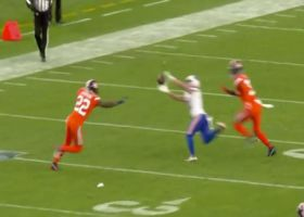 Allen threads the needle between two defenders on throw to Beasley for 22 yards