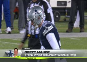 Maher's 54-yard FG try looks like knuckleball as it hooks wide left