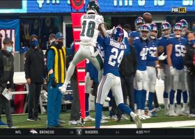 James Bradberry breaks up pass on fourth-and-10 to give Giants the ball back
