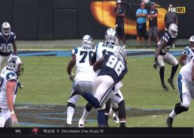 Maliek Collins throws Cam to the ground on a sack