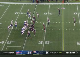 Lee Smith is left all alone for 27-yard rumble after the catch
