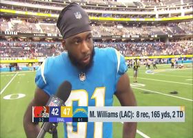 Mike Williams discusses magnitude of Chargers' Week 5 win over Browns
