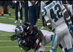 Donte Jackson downs WR short on fourth-and-11 to put road win on ice