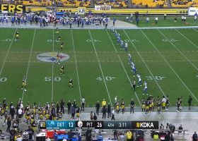 Geronimo Allison wins scrum for Lions' successful onside kick