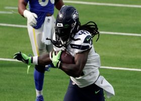 Alex Collins dashes for first TD with Seahawks since 2016