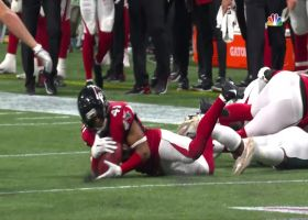 Falcons recover fumble on kickoff to start second half