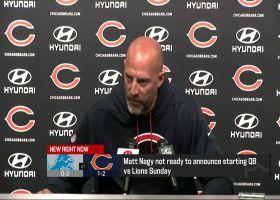 Matt Nagy discusses Bears' QB depth chart as of Wednesday