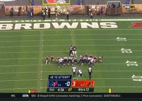 Texans pull out tricky fake field-goal punt to pin Browns at 4-yard line