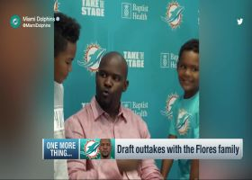Dolphins share draft outtakes of Brian Flores, family on Twitter