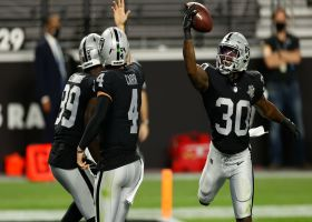 Raiders' OL paves the way for Jalen Richard's tightroping TD run