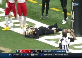 Saints score safety after they can't corral Robinson's fumble in the end zone