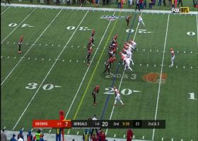 Jarvis Landry pirouettes to snag Baker Mayfield's sideline LASER