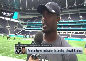 Oakland Raiders linebacker Tahir Whitehead raves about how wide receiver Antonio Brown has assumed leadership role with Raiders