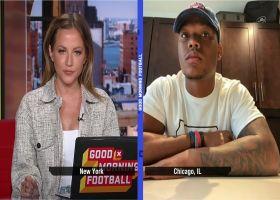 David Montgomery shares impressions of rookie QB Justin Fields