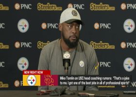 Mike Tomlin exits news conference after denying USC rumors
