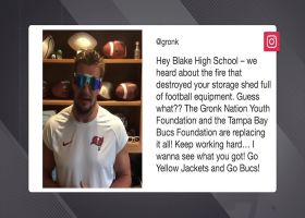 Gronk, Bucs announce they'll replace H.S. football equipment after fire