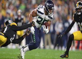 Travis Homer breaks multiple tackles on 27-yard pickup