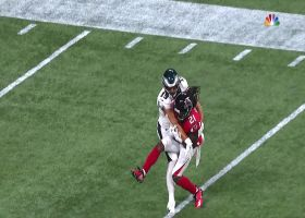 Desmond Trufant records first INT since Week 11 of 2017
