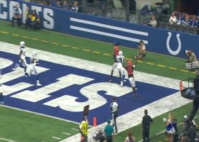 Gilbert buys time to find Strong in back of end zone for TD