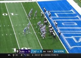 D'Andre Swift extends football past plane of goal line for TD