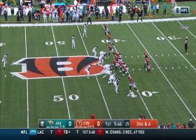 Burrow's back-shoulder DIME to Tate couldn't have been thrown better