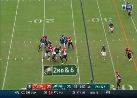 Carson Wentz wows announcers with perfect 30-yard throw to Zach Ertz