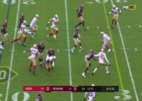 Wendell Smallwood dances through puddles for 17-yard gain