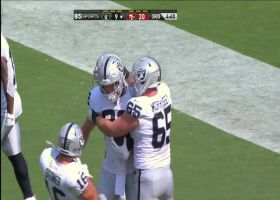Nick Bowers makes defender whiff on 16-yard TD catch and run