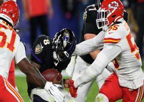 Lamar Jackson can't escape Frank Clark on massive third-down sack