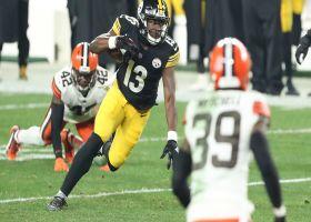 Big Ben finds James Washington for 27-yard gain along the sideline