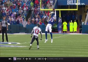 Micah Hyde shows cat-like reflexes snagging deflected INT