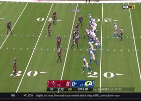 Stafford rips sideline strike to toe-tapping Kupp for 22-yard pickup