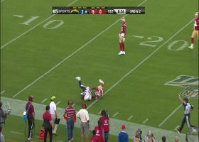 Cardale Jones floats back-shoulder ball to Artavis Scott for 25 yards