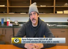 Aaron Rodgers reacts to winning 2020 AP NFL MVP