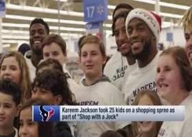 Houston Texans safety Kareem Jackson, Texans teammates took 25 kids on 'Shop with a Jock' shopping spree